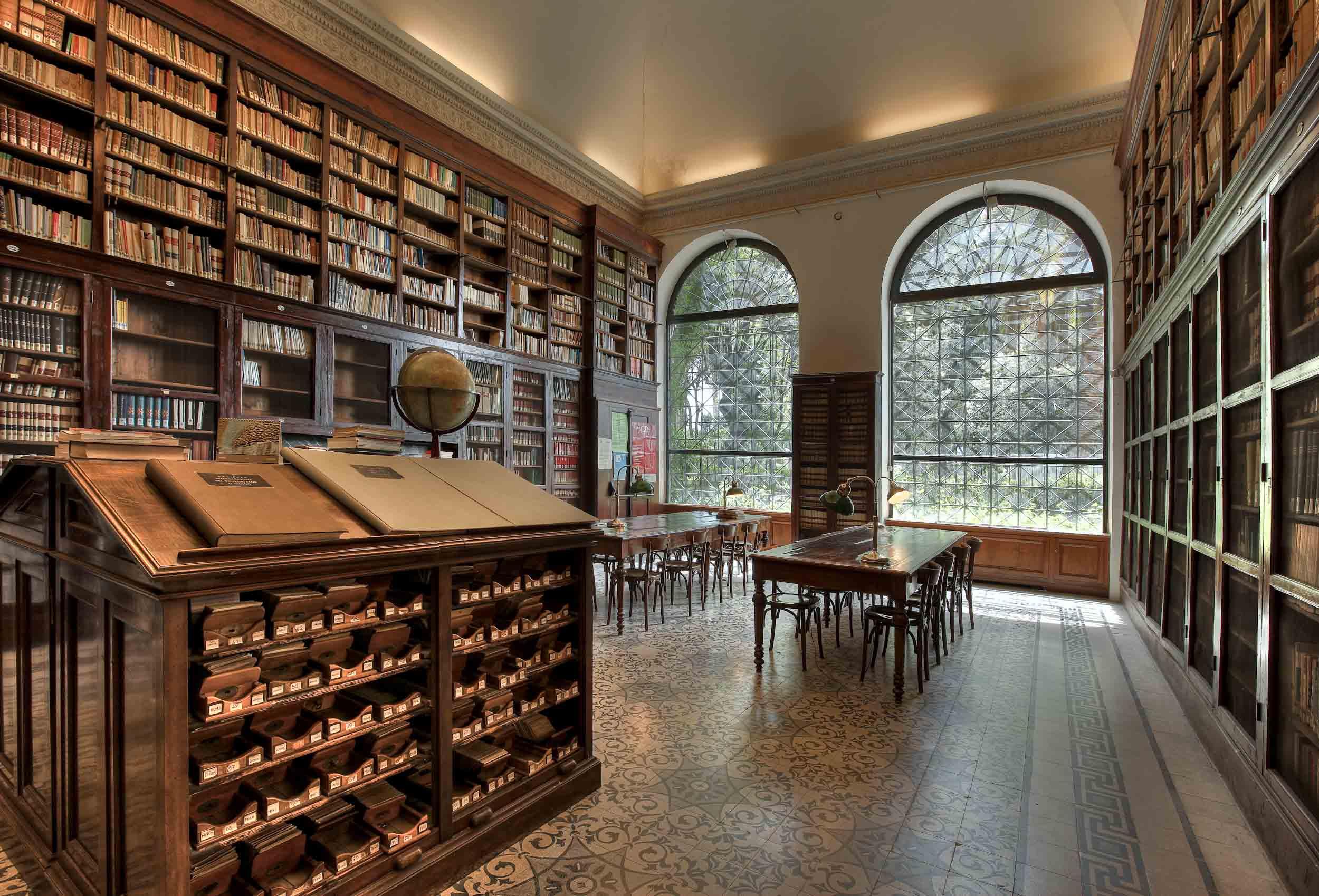 Sala_Lettura_Biblioteca_ Villa Celimontana